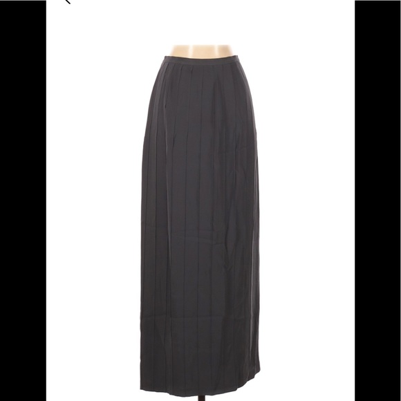 Banana Republic Long Silk Pleated Maxi Skirt